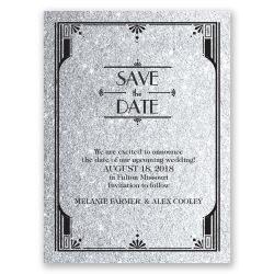 Rousing Glamorous Pewter Faux Glitter Save Date Card Glamorous Faux Glitter Save Date Card Invitations By Dawn Cheap Save Date Cards Uk Cheap Save Dates Magnets