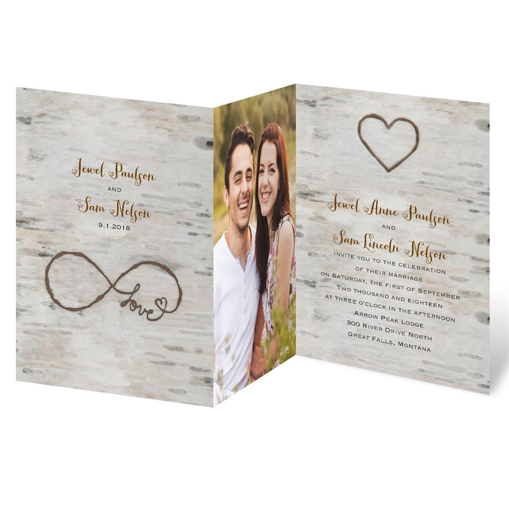 photo wedding invitations wedding invitations with pictures Love for Infinity Z Fold Invitation