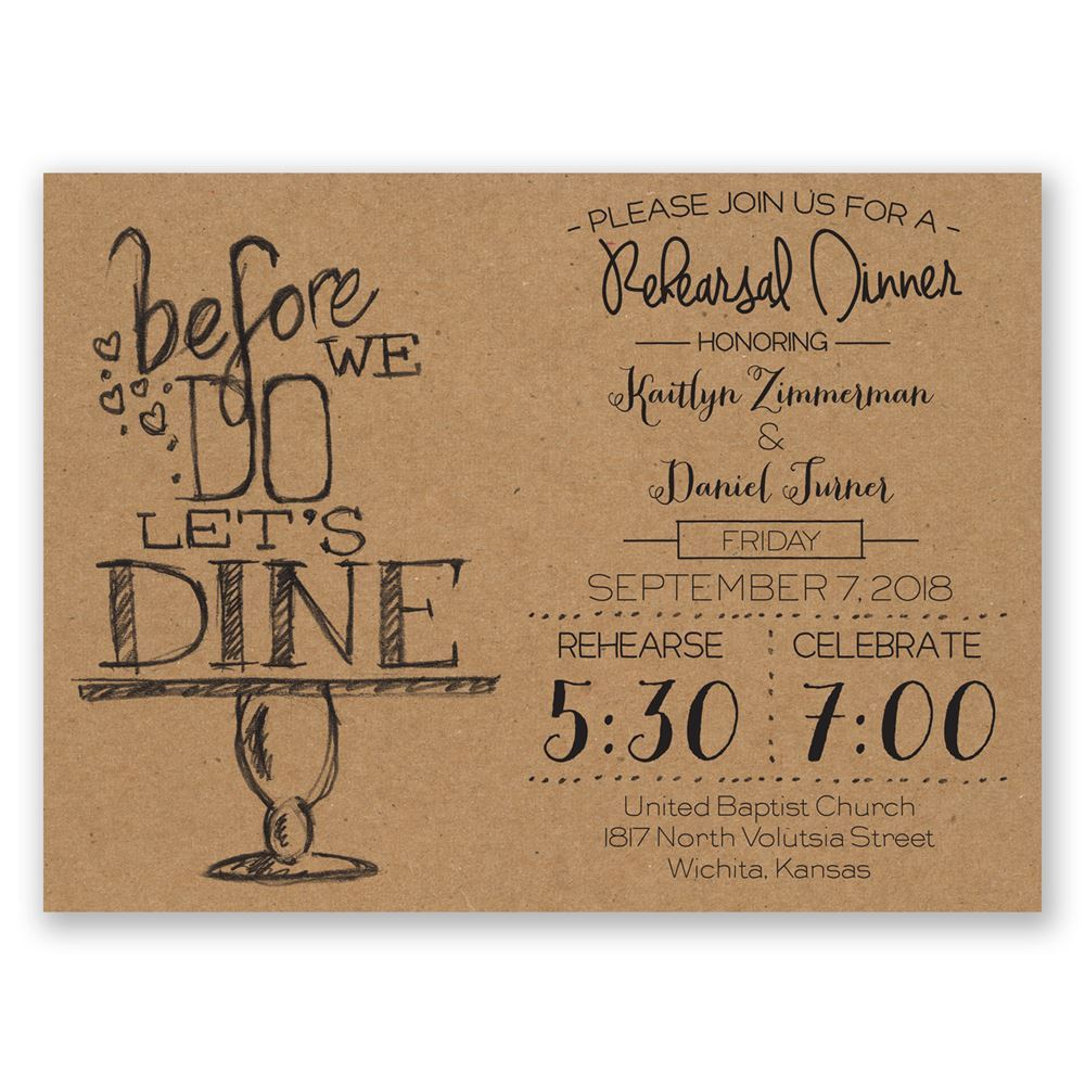 Fullsize Of Rehearsal Dinner Invitation Wording