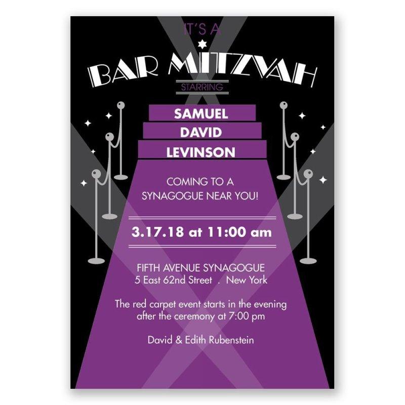 Large Of Bar Mitzvah Invitations