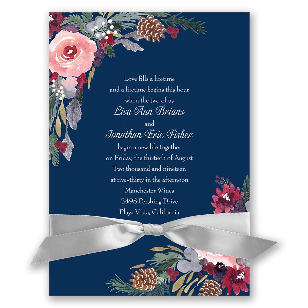 Love One Side Quotes Wallpaper Bold Blooms Invitation Invitations By Dawn