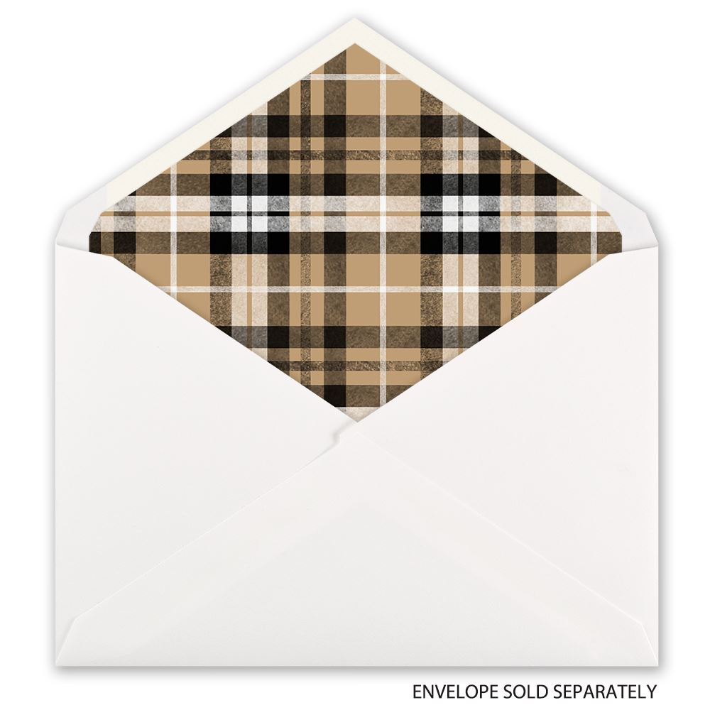 Plaid Taupe Taupe Plaid Designer Envelope Liner Invitations By Dawn