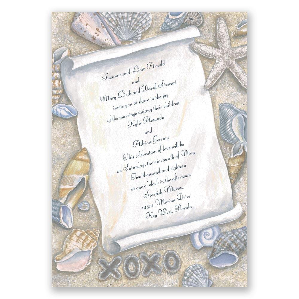 beach wedding invitations beach wedding invitations Beach Wedding Invitations Gift From The Sea Invitation