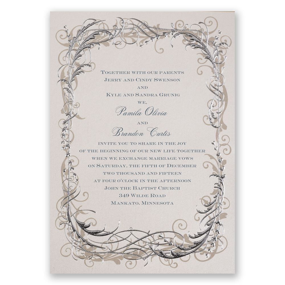 white wedding invitations wedding invitations White Wedding Invitations Vintage Shine Invitation