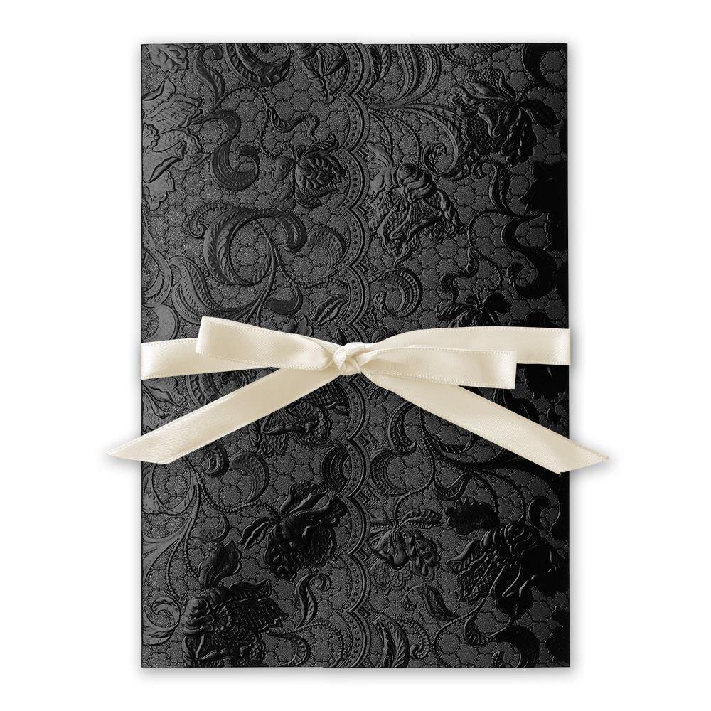 wedding invitations wedding card invitation Wedding Invitations Ebony Vines Foil Invitation