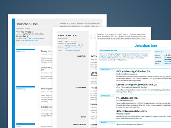 Resumonk Résumé Creator Lifetime Subscription StackSocial - resume creator
