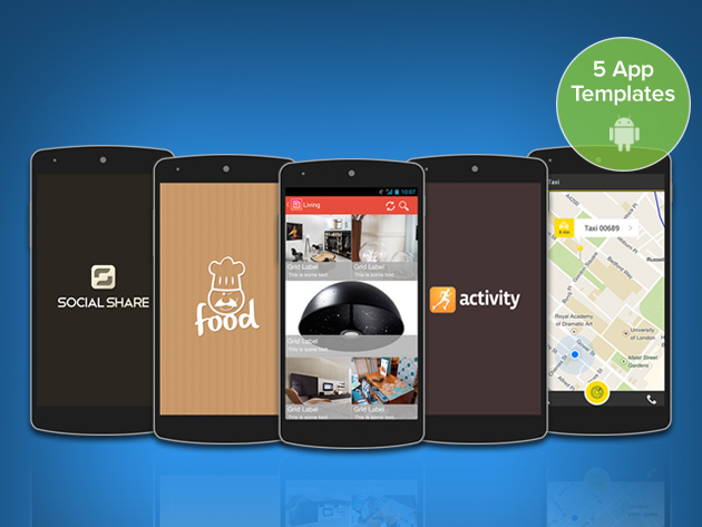 Build Your Own Android App 5 Professionally-Designed App Templates