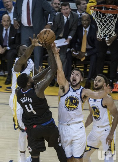 Warriors vs Clippers in first round of NBA Playoffs - UPI.com