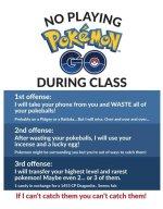 Pokemon Go Classroom Rules