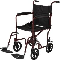 Medline Basic Aluminum Transport Chair With Eight Inch ...