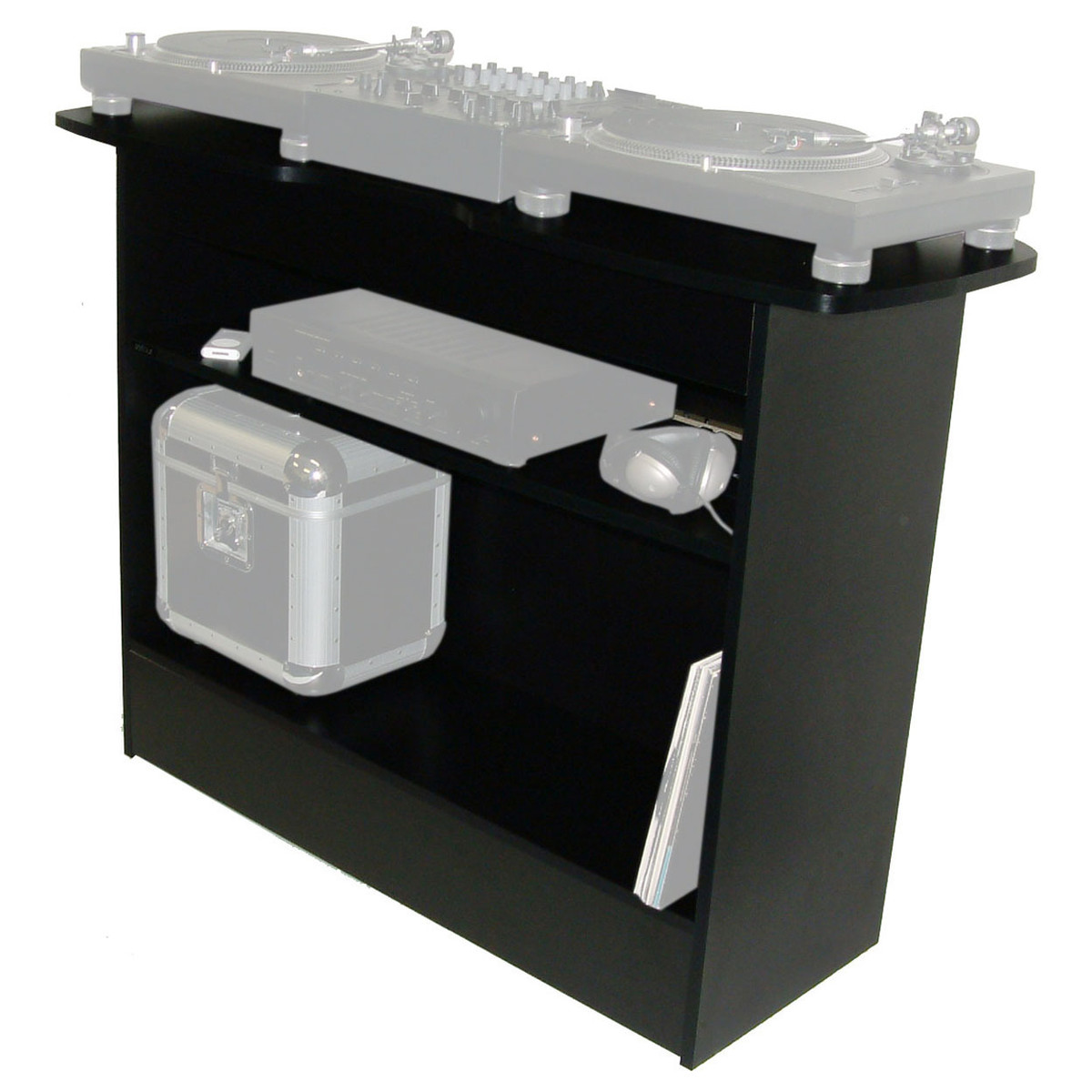 Muebles Para Dj Sefour X10 Dj Stand Black At Gear4music