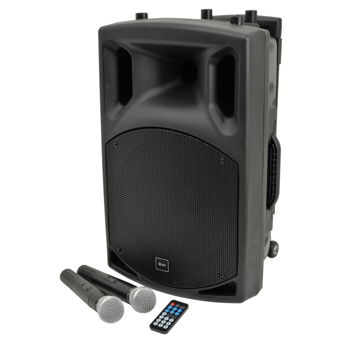 Bluetooth Box Qtx Qx12pa Portable Pa System With Bluetooth Box Opened