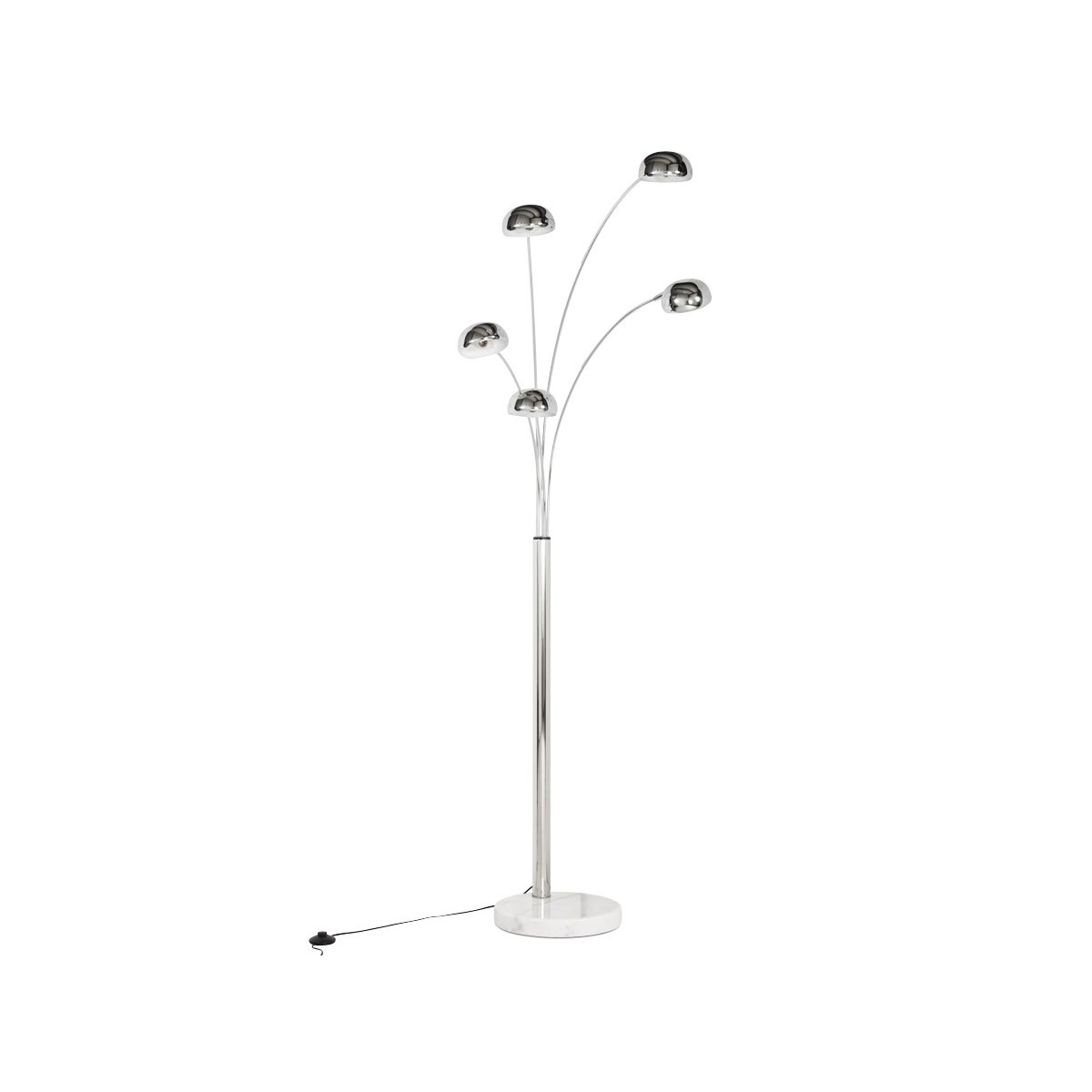 Design Küchenlampe Rollier Design Floor Lamp 5 Shades Chrome Steel (chrome)