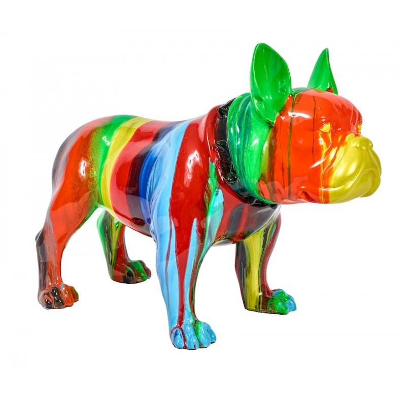 Bouledogue Decoration Design Statue Sculpture Décorative Design Chien En Résine