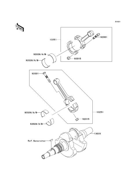 Kawasaki Praire 300 Engine Parts Diagrams - Best Place to Find