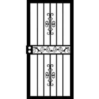 """Grisham Mariposa 32"""" x 80"""" Steel Right-Hinged Security Door"""