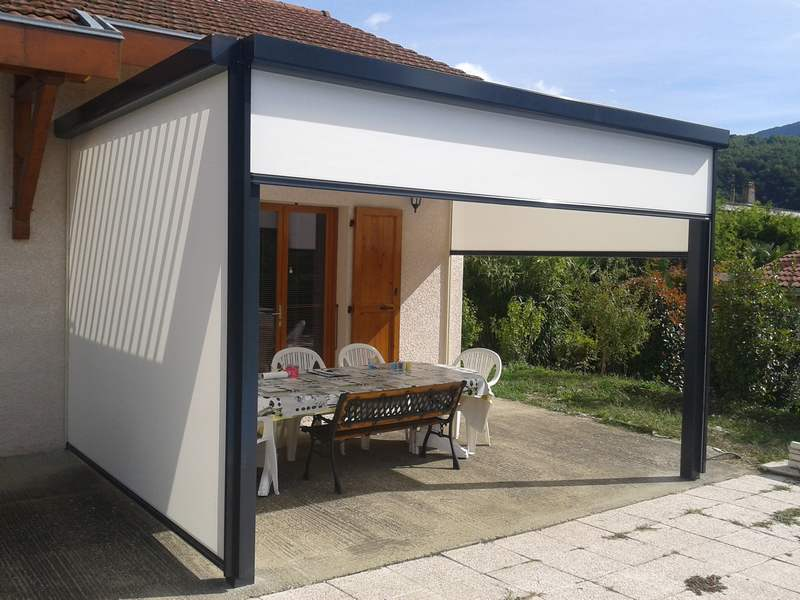 Coupe Vent Terrasse Retractable Store Vertical