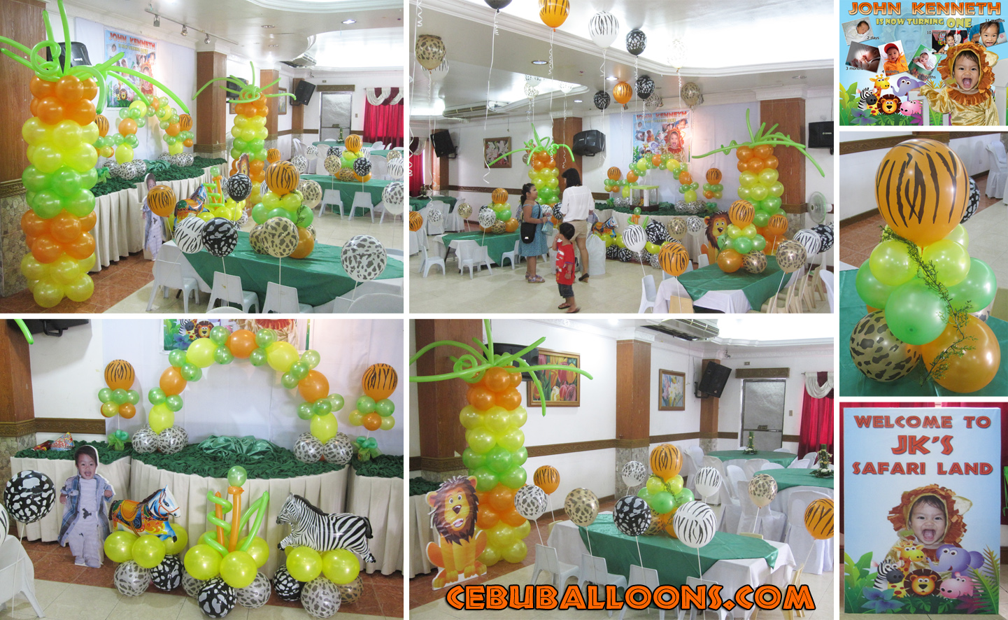 Décoration Safari Anniversaire Safari Theme Balloon Decoration Stage Cebu Balloons
