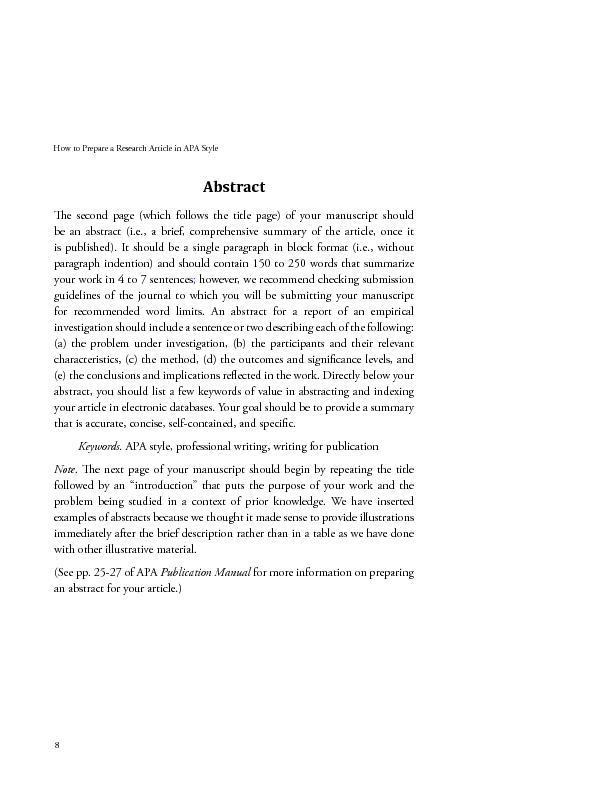 apa research style