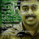 In Loving Memory of Surajettan (Suraj Sebastin)