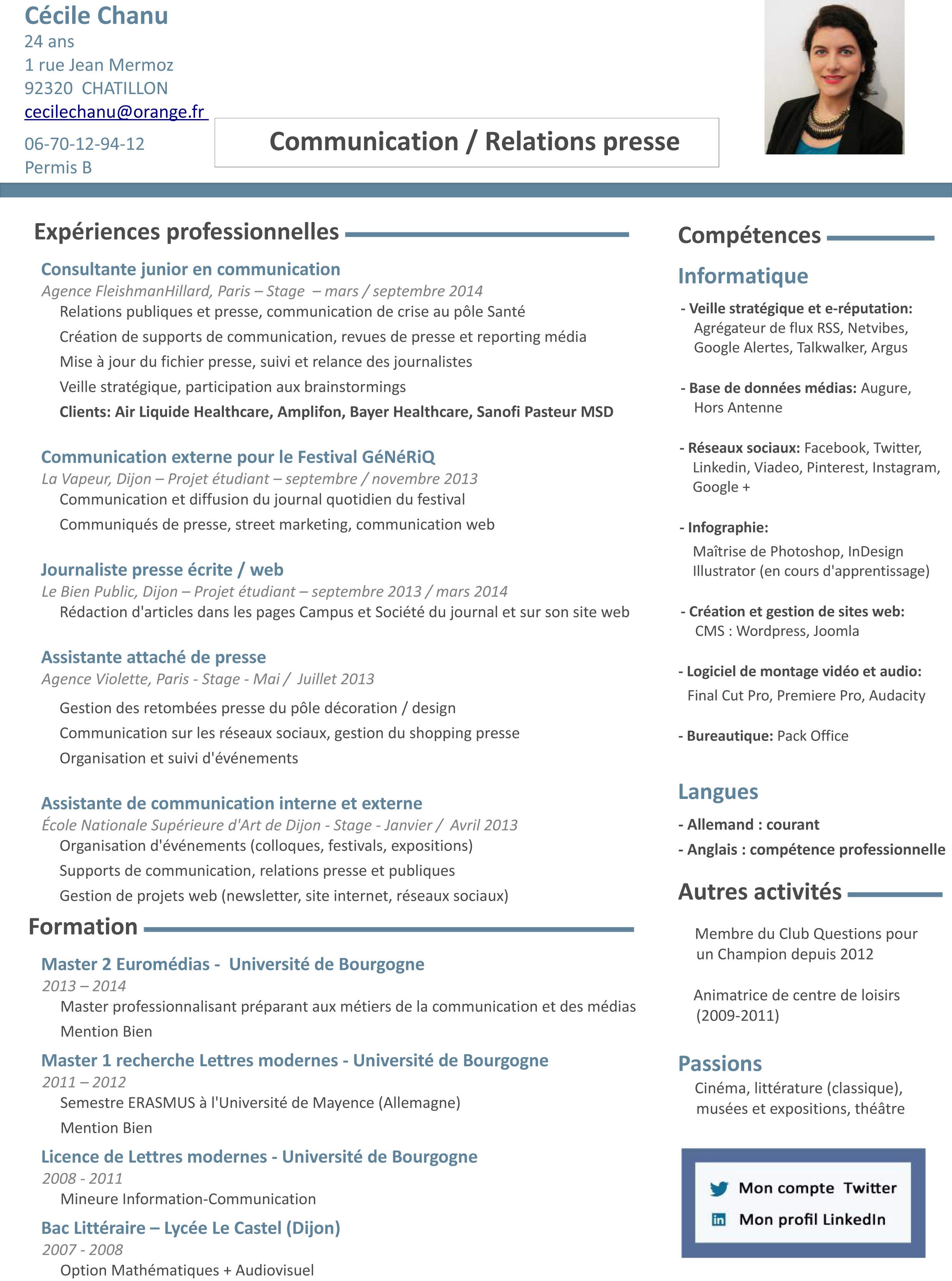 candidat communication herault cv en ligne