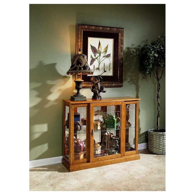 Elegant Desks For Home Office Golden Oak Ii Display Cabinet - Cedar Hill Furniture