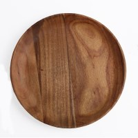 Acacia Wood Round Plate - 3 Sizes - Cedar Hospitality Supplies