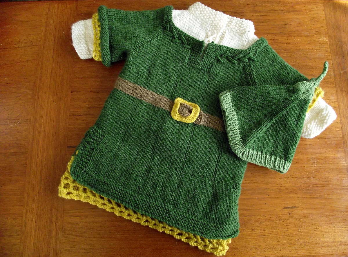 Knitted Toddler Link Costume