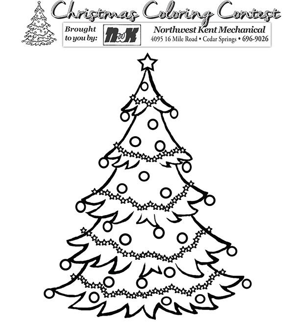 Christmas coloring contest Cedar Springs Post Newspaper