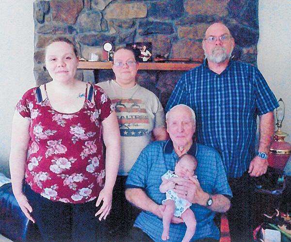 5 generations Cedar Springs Post Newspaper - 5 generations