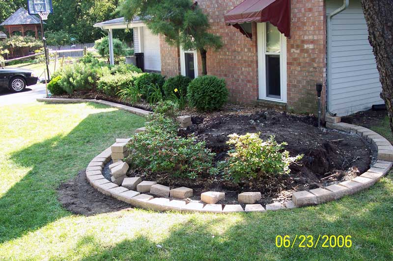 Oakland County Brick Paving Flower Box Edging Brick