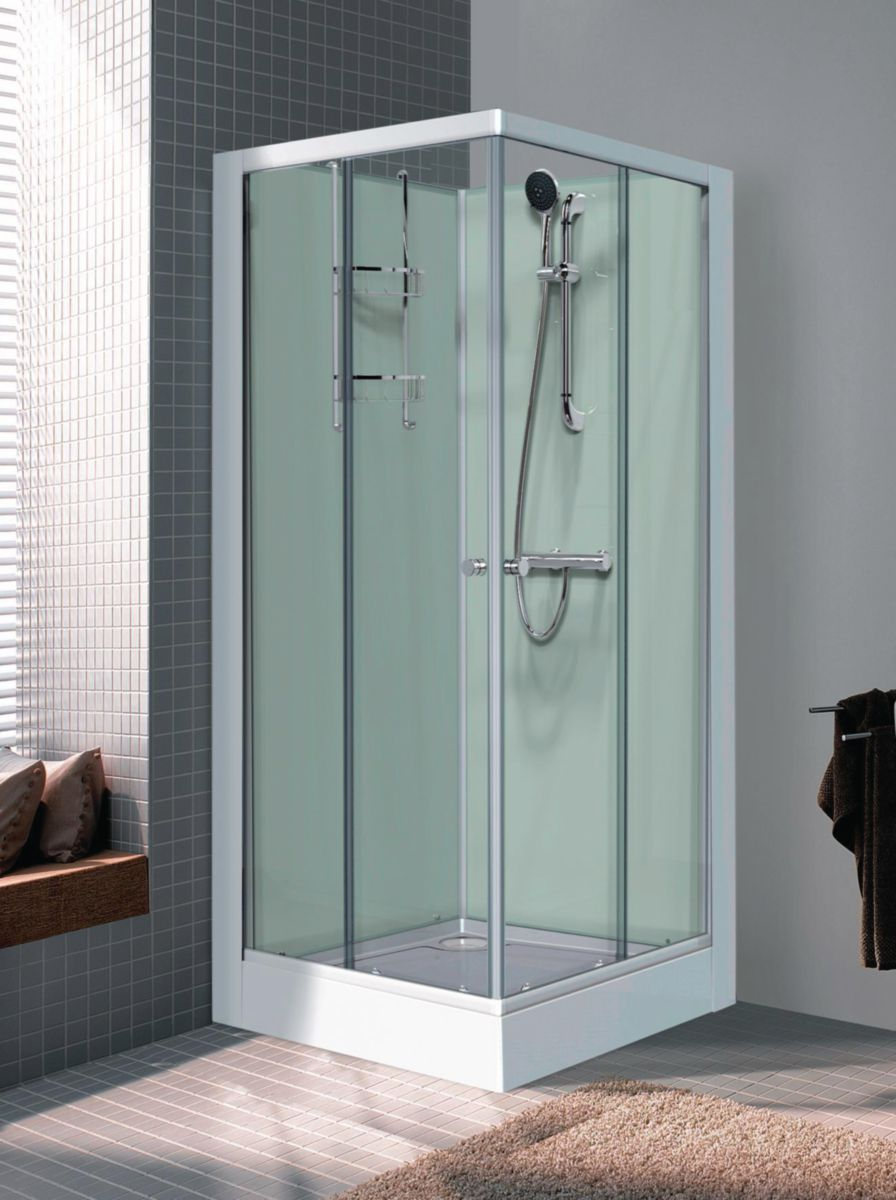 Douche Thermostatique Leda - Cabine De Douche Iziglass Carrée 80x80cm