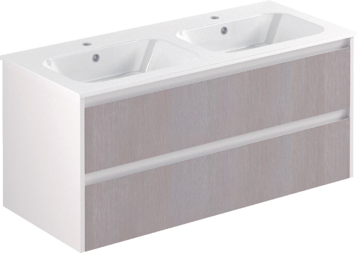 Meuble Salle De Bain 120 Cm Double Vasque Alterna Meuble All Day Sous Vasque 120 Cm Double Vasque