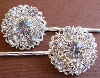 Wedding Hair Pins, Bridal Accessories, Silver And Crystal ...