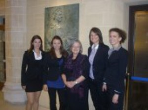 The winning team from Vilnius 2011 enjoying their prize in the company of Baroness Hale visitng the UK Supreme Court