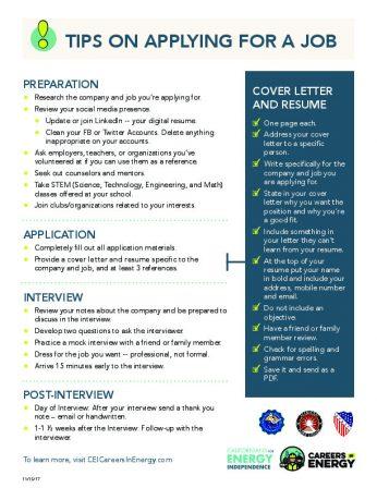 TIPS ON APPLYING FOR A JOB