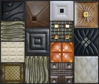 Faux Leather Decorative Tiles for Walls & Ceilings ...