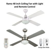 Ramo 48 inch Ceiling Fan with Light and Remote control ...