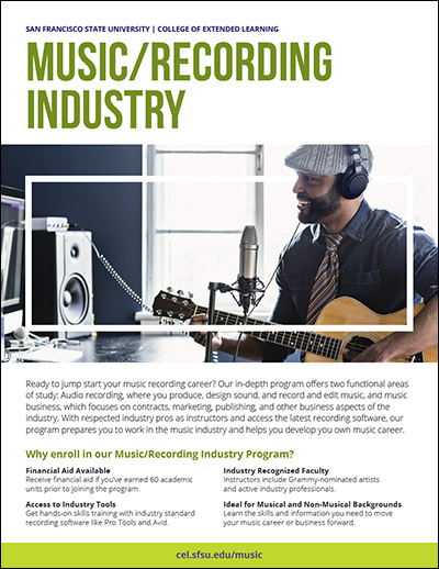 Music/Recording Industry Brochure College of Extended Learning