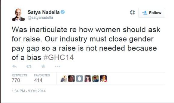Nadella tweet