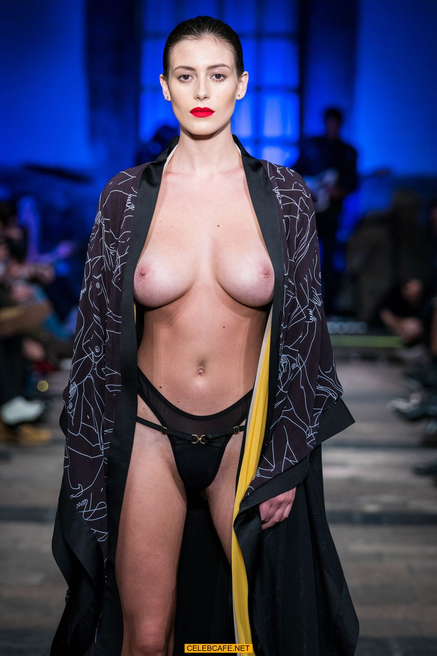 Alejandra Guilmant Topless Alejandra Guilmant Runway Topless At Mercedes Benz Fashion Week