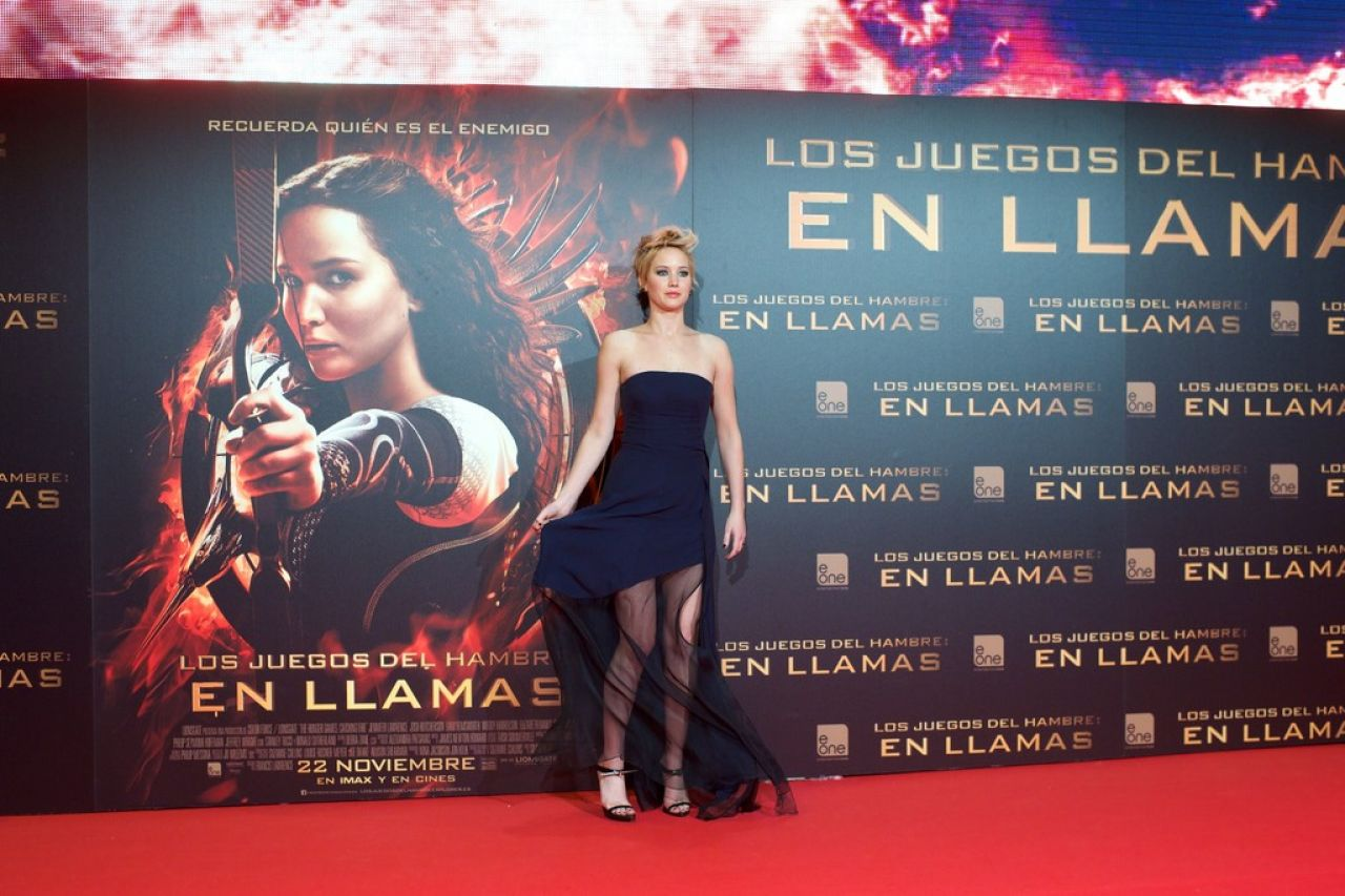 Hair Salon Madrid Jennifer Lawrence Red Carpet Photos - The Hunger Games