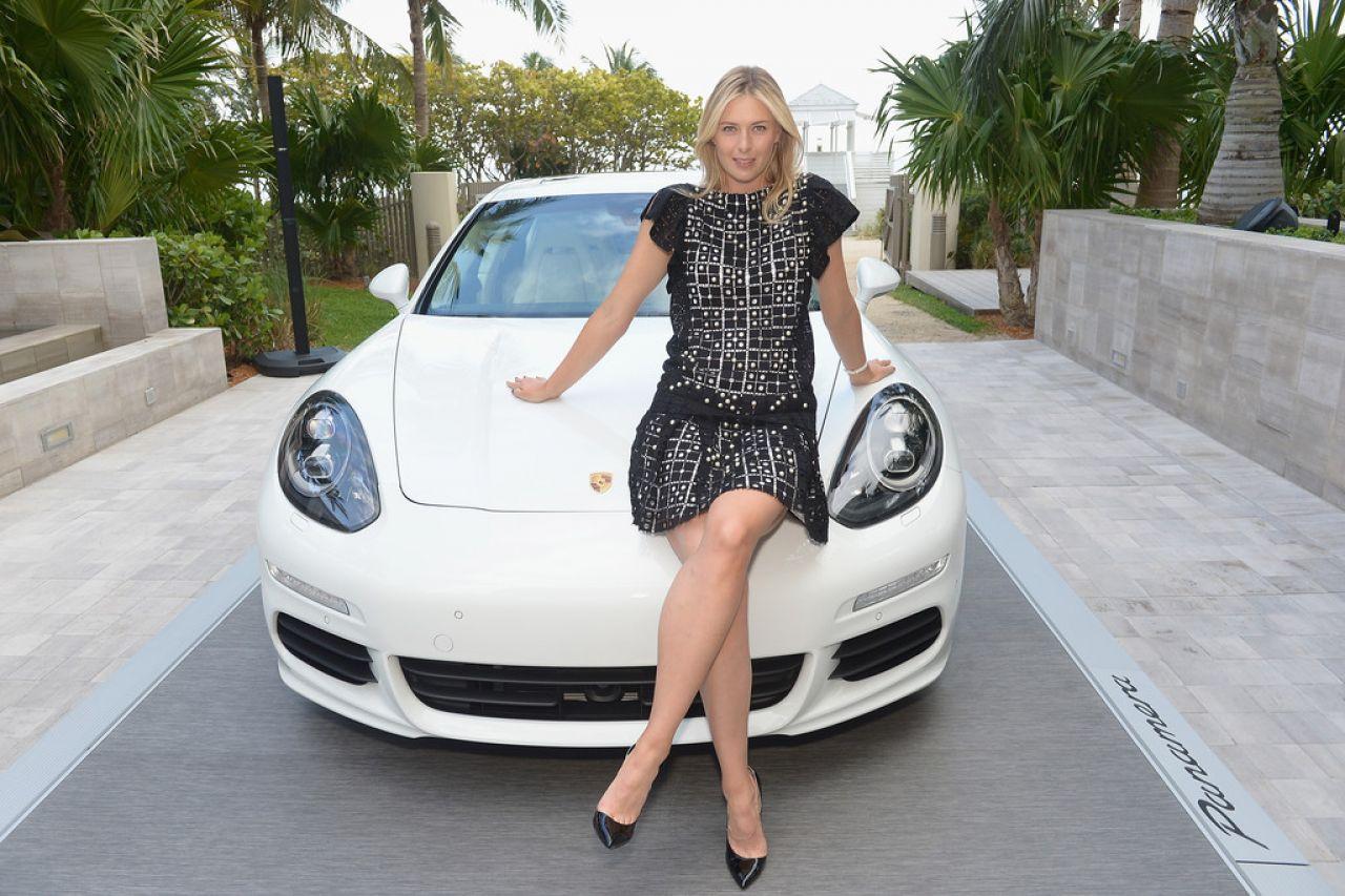 Fast Car Magazine Wallpapers Maria Sharapova Porsche Media Night In Miami March 2014