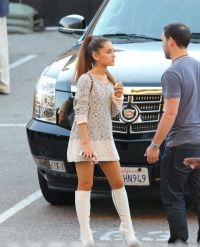 Ariana Grande Outside the IHeartRadio Awards (2014) With ...