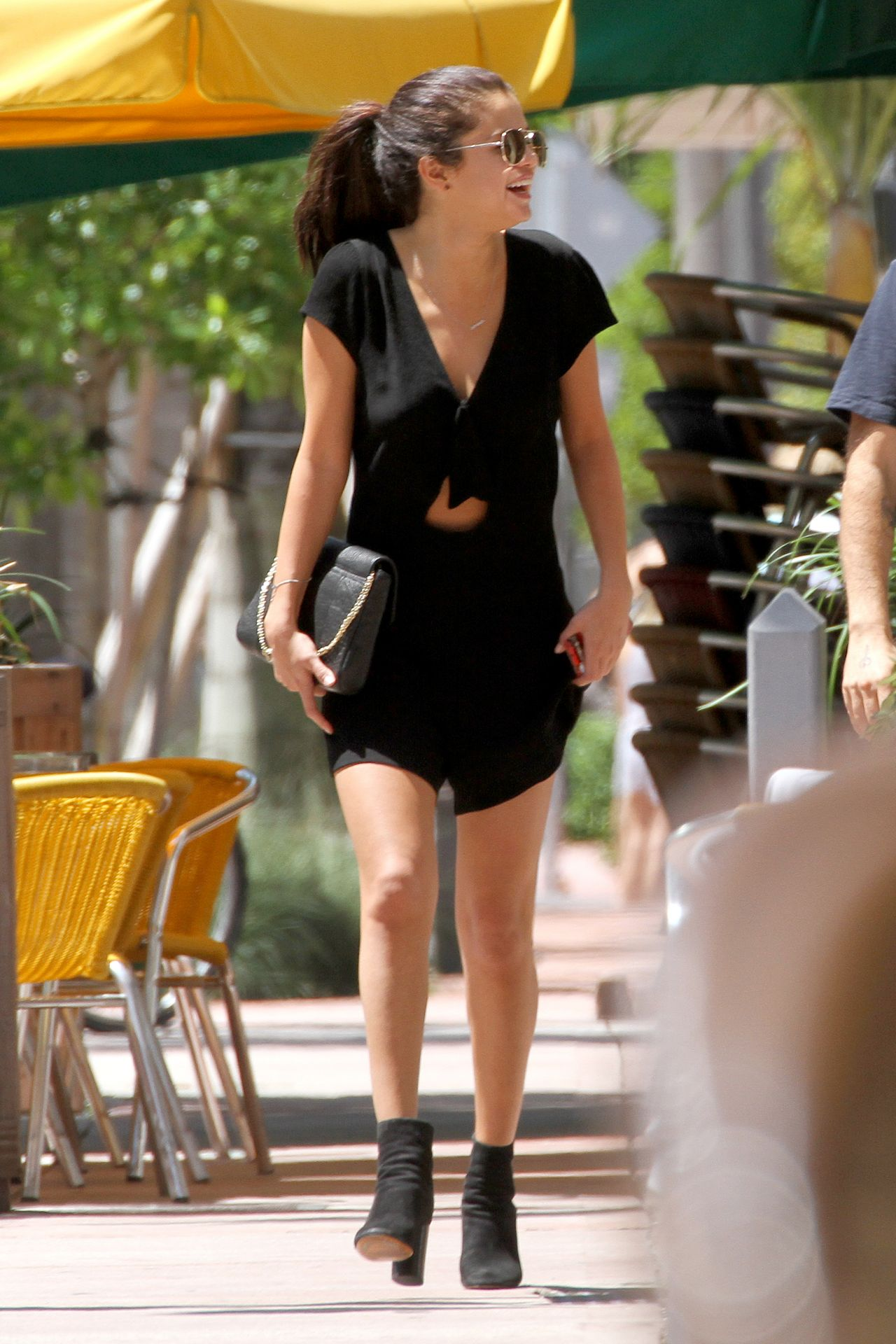 Beautiful Hairstyles Selena Gomez Takes Her Legs Out In Miami - July 2014