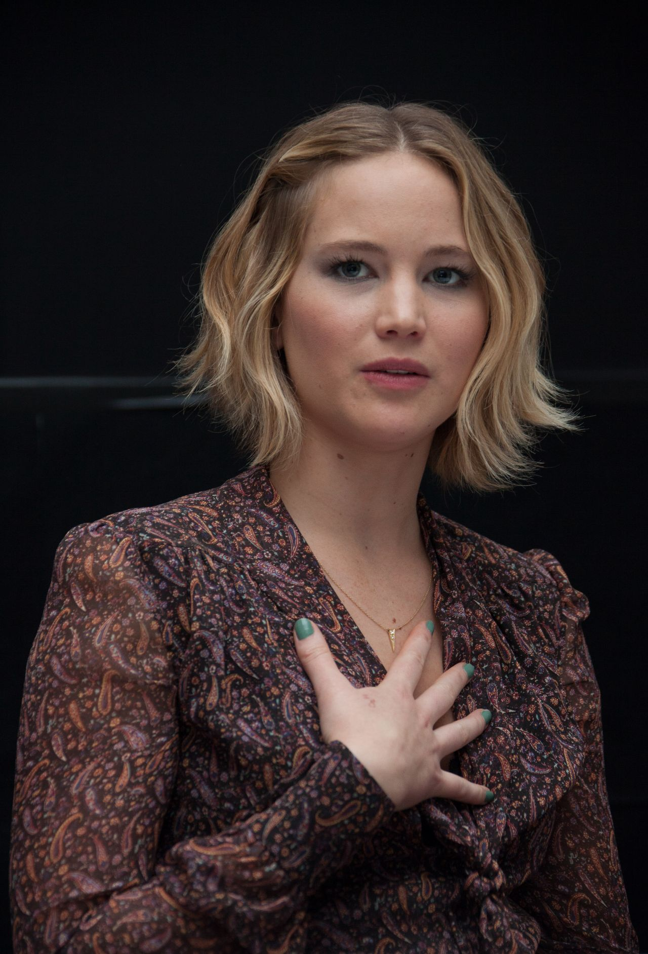Mockingjay Part Jennifer Lawrence Press