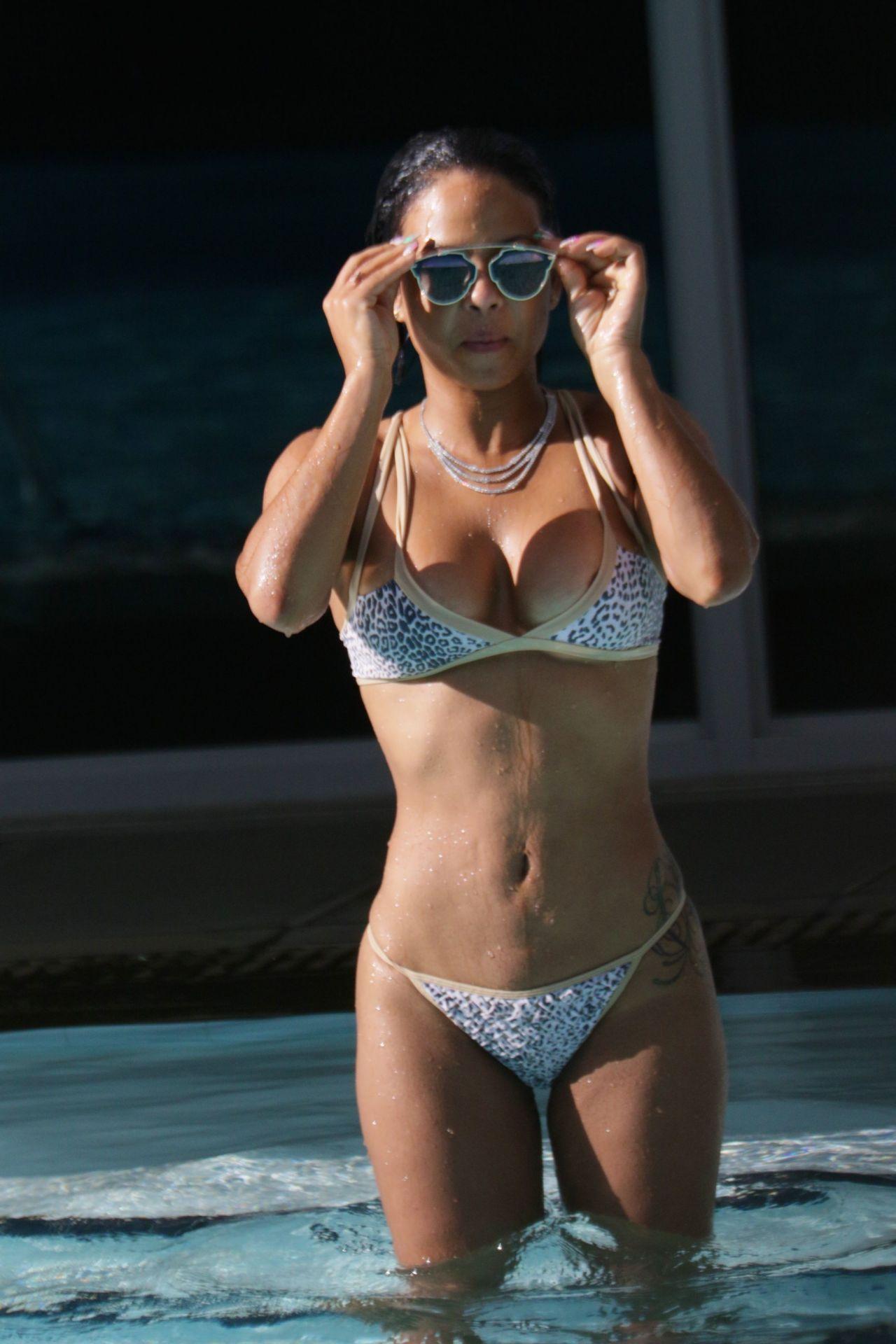 Daddys Girl Wallpaper Christina Milian Hot In Bikini In Miami October 2015