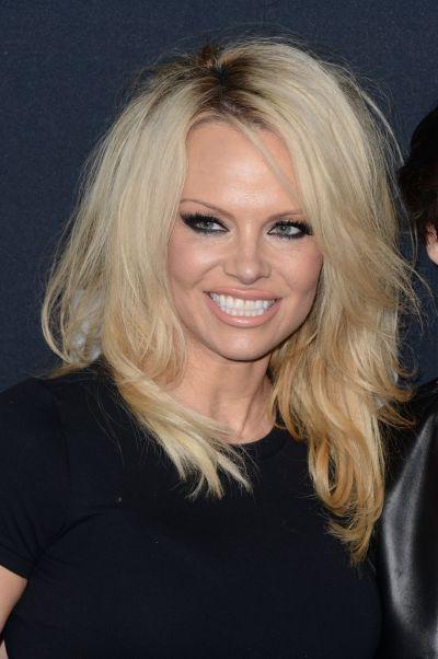 Pamela Anderson – Saint Laurent Show at The Palladium in Los Angeles 2/10/2016