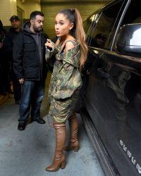 Ariana Grande - Greeting Fans Outside Z100 Studios in New ...