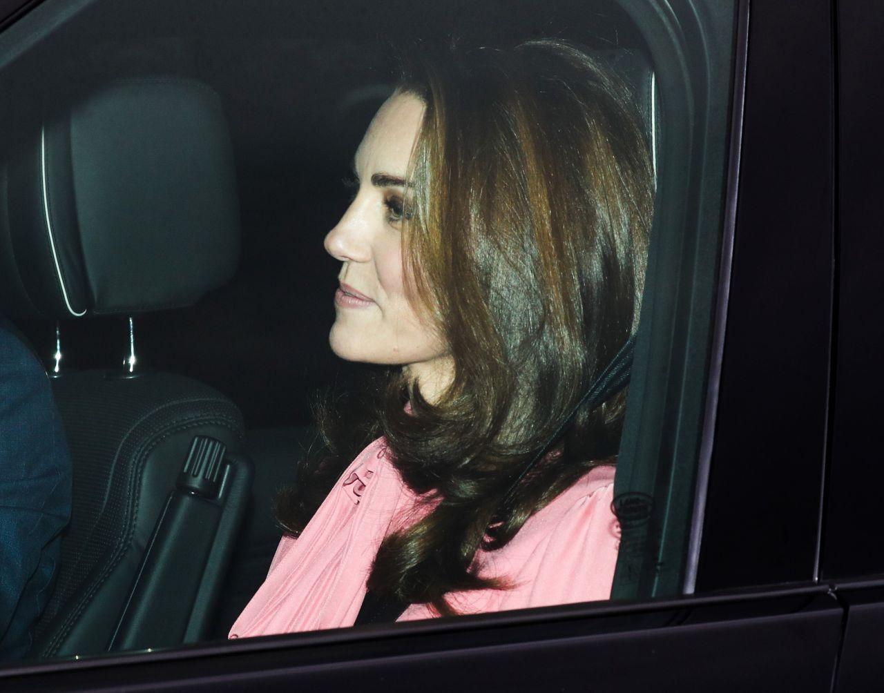 Kate Middleton Departs Kensington Palace In London 12 19